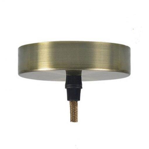 Soporte metálico techo lámpara anticuario claro