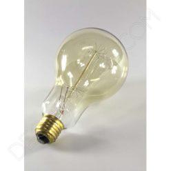 Bombilla filamento de carbono modelo Edison dorada casquillo E27