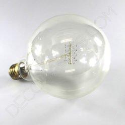 Bombilla Globo de filamento de carbono espiral modelo Edison E27