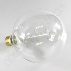 Bombilla Globo de filamento de carbono muelle modelo Edison E27