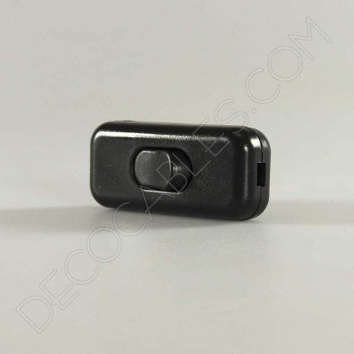 Interruptor de paso para lámparas unipolar en color negro