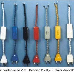 Cableado para lámpara con cable trenzado de seda