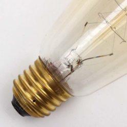 Bombilla Pebetero de filamento de carbono muelle modelo Edison E27
