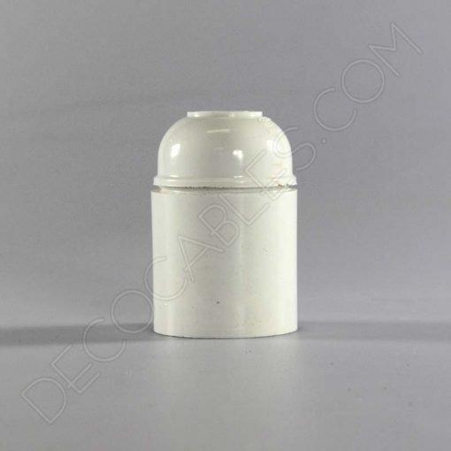 Portalámparas de baquelita liso en color blanco casquillo E27