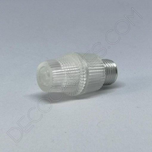 Presa cable plástico transparente