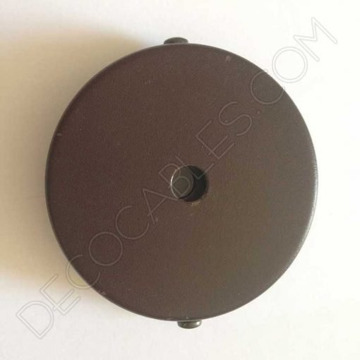 Soporte florón de techo para lámpara en hierro en color marron