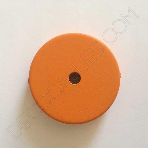 Soporte florón de techo para lámpara en hierro en color naranja
