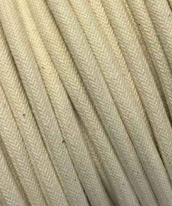 Cable eléctrico textil redondo de algodón