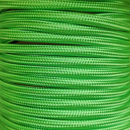 Cable eléctrico textil redondo verde claro