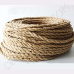 Cable eléctrico trenzado de cuerda de cáñamo