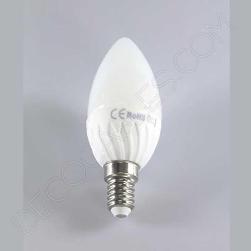 Bombilla led tipo vela de luz blanca decocables for Bombillas led de vela