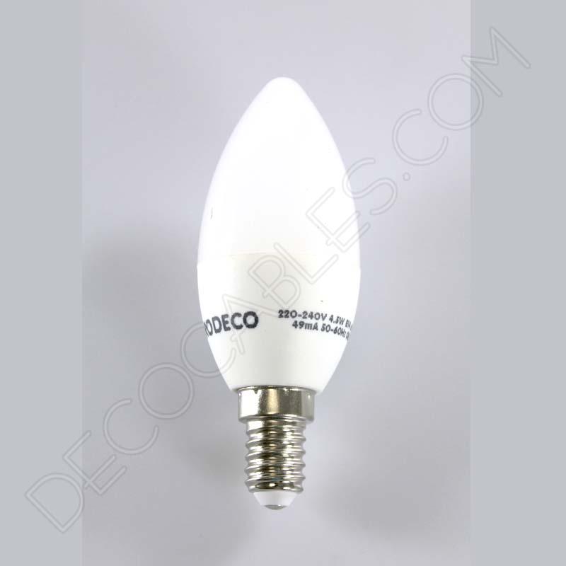 Bombilla led vela consumo 6w casquillo e14 for Luz blanca o calida