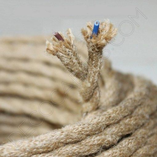 Cable trenzado de cuerda de cáñamo 2 hilos