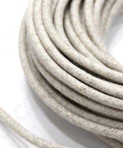 Cable eléctrico redondo de tela lino