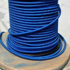 Cable eléctrico redondo de tela de color azul
