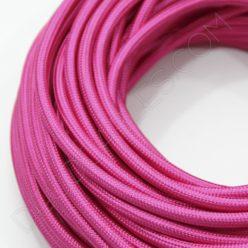 Cable eléctrico redondo de tela de color rosa fucsia