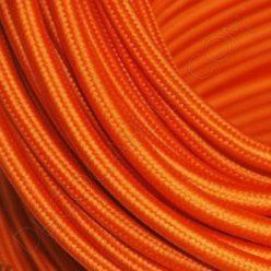 Cable eléctrico redondo de tela de color naranja