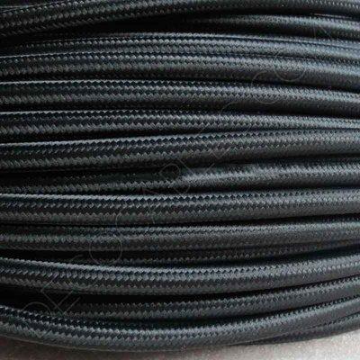 cable eléctrico de tela negro