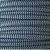 Cable eléctrico redondo de tela de color blanco y negro zig-zag