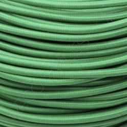 Cable eléctrico textil redondo en color verde claro