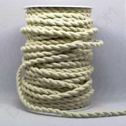 cable eléctrico trenzado color algodón