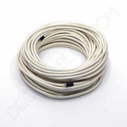 Cable eléctrico textil redondo en color beige