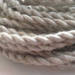 Cable eléctrico trenzado de algodón natural