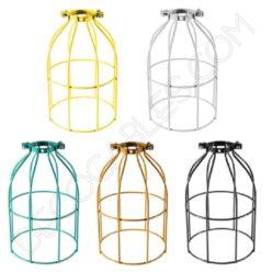 Jaula decorativa metálica para lámpara en varios colores