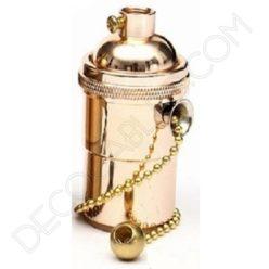 Portalámparas estilo vintage metálico con interruptor de cadena, color cobre