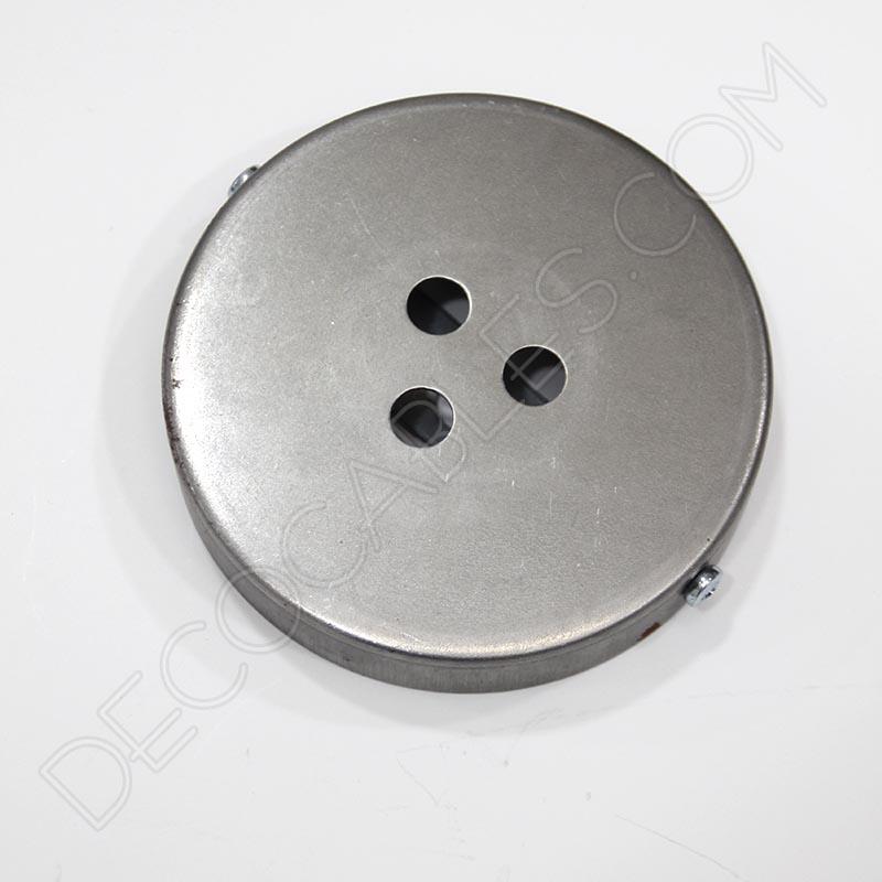 Soporte de techo para lámpara 3 orificios (negro) Decocables