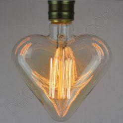 Bombilla Corazón de filamento de carbono modelo Edison E27