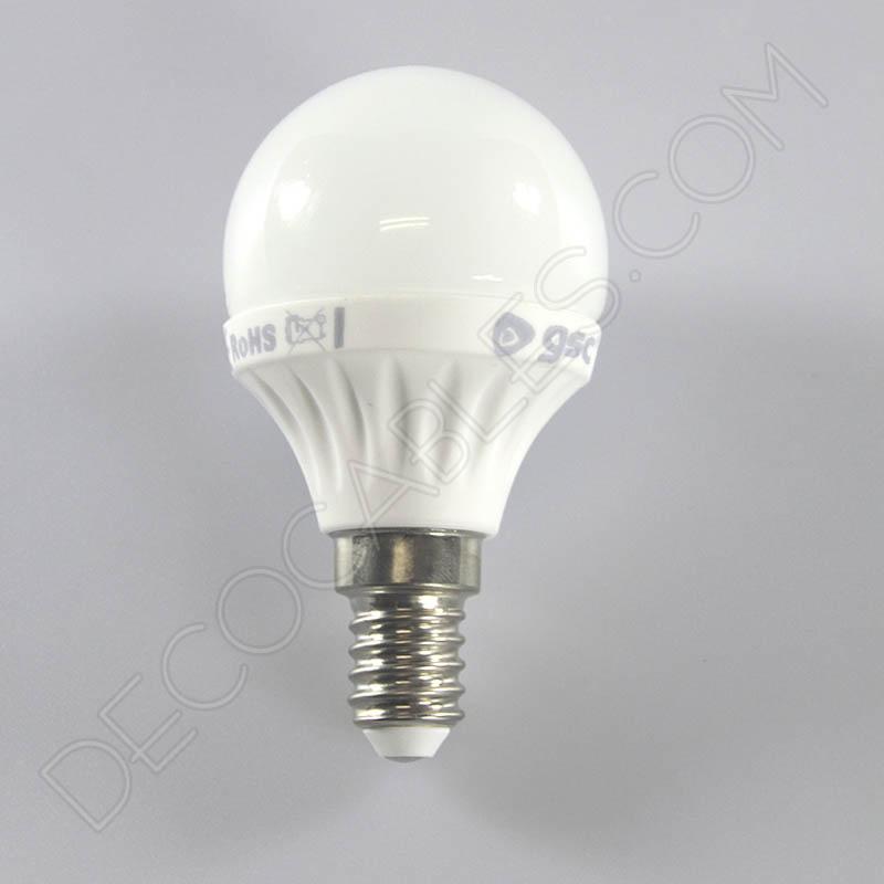 Bombilla led esf rica bola peque a 4w de consumo for Luz blanca o amarilla