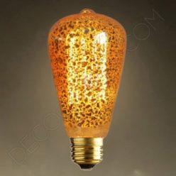 Bombilla Pebetero de filamento de carbono dorada modelo Marconi E27