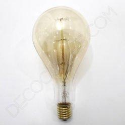 Bombilla Rústica de filamento de carbono rayada modelo Edison XXL E40