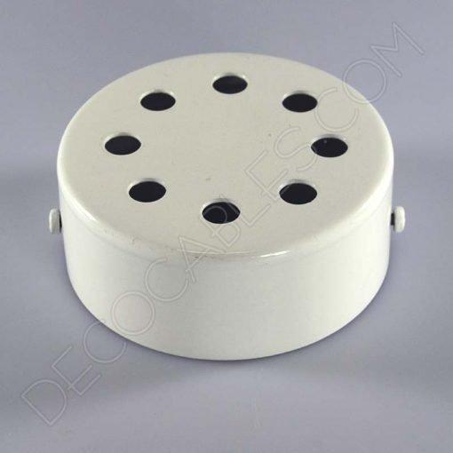 Soporte florón de techo para lámpara blanco de 8 salidas