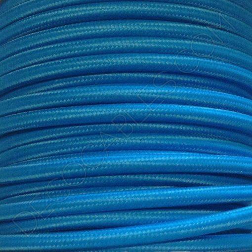 l/ámparas Made in Italy abat Jour Cable el/éctrico trenzado Pesca estilo vintage revestido de tela multicolor naranja naranja secci/ón 2/x 0,75/para l/ámparas dise/ño
