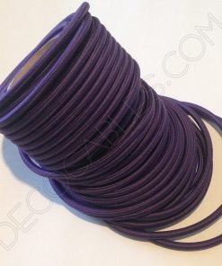 Cable eléctrico redondo de tela de color morado