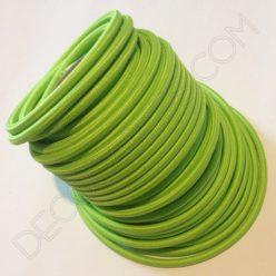 Cable eléctrico redondo de tela de color verde lima