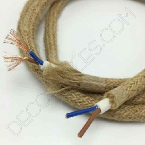 Cable eléctrico redondo de cuerda de cáñamo