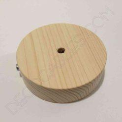 Soporte florón de techo para lámpara de madera