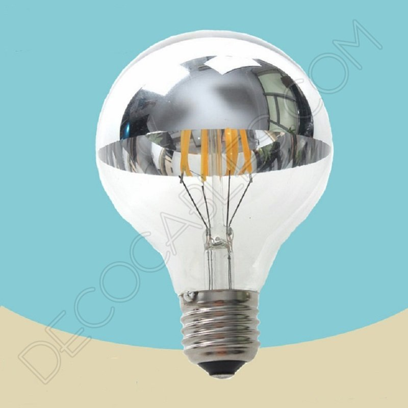 Bombilla filamento led c pula con espejo tama o 95mm de - Espejos con bombillas ...