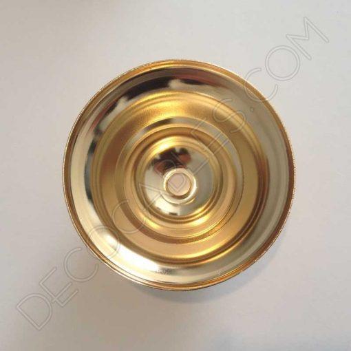 Florón para lámpara dorado