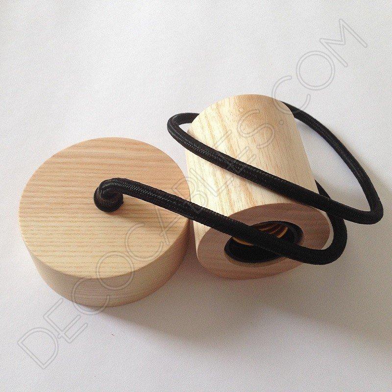 L mpara colgante madera modelo cilindro grande - Lamparas colgantes de madera ...
