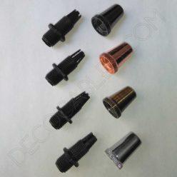 Presa cables metálicos en varios colores