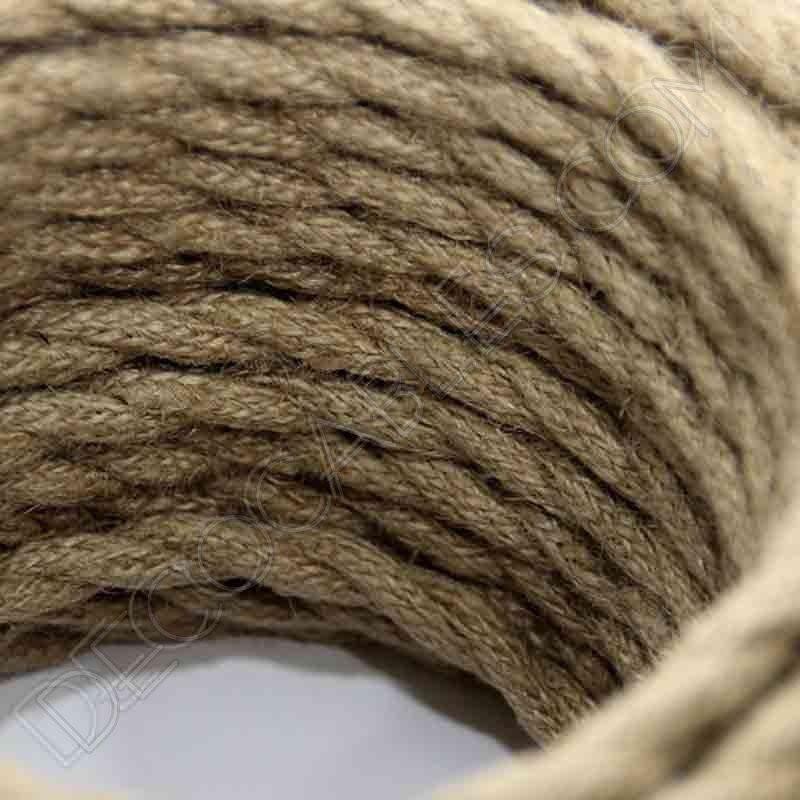 Cable el ctrico trenzado de cuerda de c amo de 3 hilos for Soga de canamo