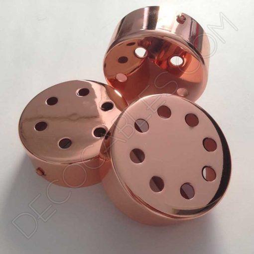 Soporte florón de techo para lámpara cobre de 5, 6 y 8 salidas