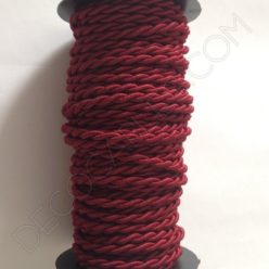 Cable eléctrico trenzado granate