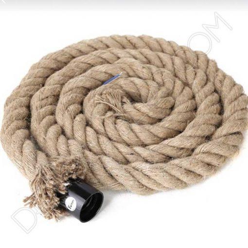Cable eléctrico trenzado soga de cuerda de cáñamo