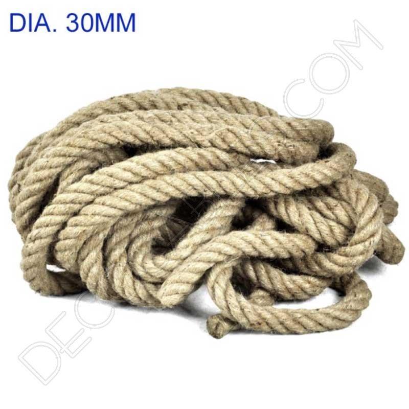 Cable el ctrico trenzado soga de cuerda de c amo for Soga de canamo