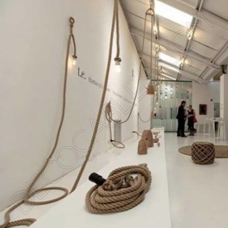 cable elctrico trenzado soga de cuerda de camo
